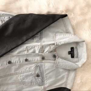 Urban Outfitters Vegan Leather Jean Jacket